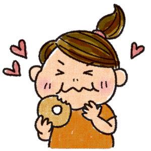 ドーナッツ大好きのポチャ子